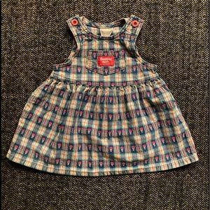 Vintage Oshkosh overall dress size  18m